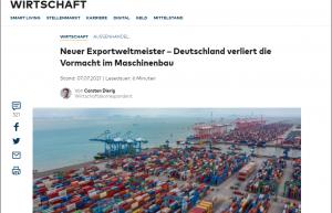 述职述廉述德报告:中国首超德国,成为全球机械出口冠军